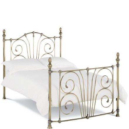 Rebecca Antique Brass King-Sized Bedstead
